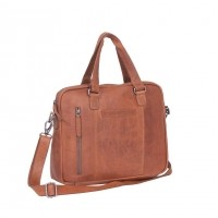 Leather Laptop Bag Cognac Maria Cognac
