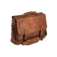 Leather Laptop Bag Cognac Belfast Cognac