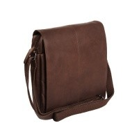 Leather Shoulder Bag Brown Bowie Brown