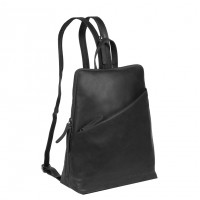 Leather Backpack Black Amanda Black
