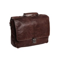 Leather Briefcase Brown Aberdeen Brown
