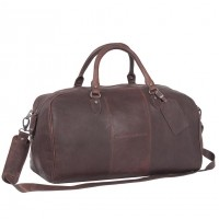 Leather Weekend Bag Brown William Brown