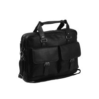Leather Laptop Bag Black George Black