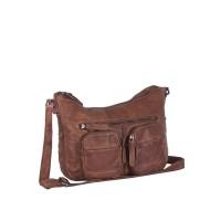 Leather Shoulder Bag Cognac Grace Cognac