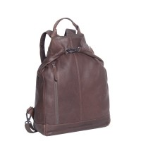 Leather Backpack Brown Nuri Brown