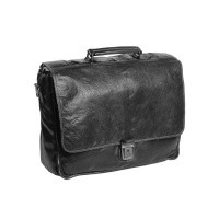 Leather Briefcase Anthracite Aberdeen Anthracite