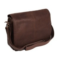Leather Shoulder Bag Brown Chen Brown