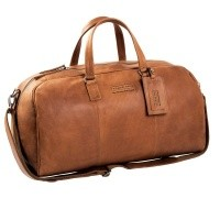 Leather Weekend Bag T1 Cognac Thomas Hayo Cognac