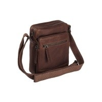 Leather Shoulder Bag Brown Birmingham Brown