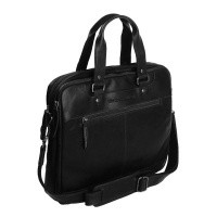Leather Laptopbag Black Jovi Black