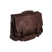 Leather Laptop Bag Brown Belfast Brown