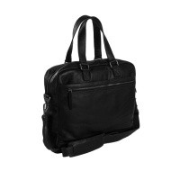 Leather Laptop Bag Black Blackburn Black