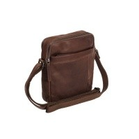 Leather Shoulderbag Brown Alva Brown