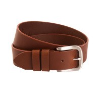 Leather Belt Navy Beck Cognac