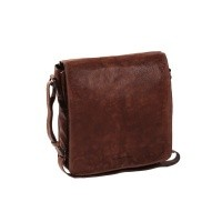 Leather Shoulder Bag Brown Almada Brown