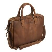 Leather Laptop Bag Cognac Floris Cognac