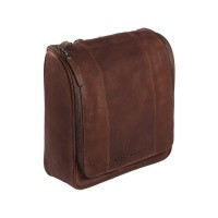 Leather Toiletry Bag Brown Basel Brown