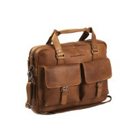 Leather Laptop Bag Cognac George Cognac