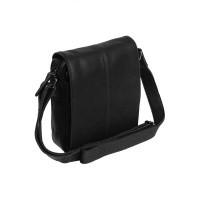 Leather Shoulder Bag Black Alin Black