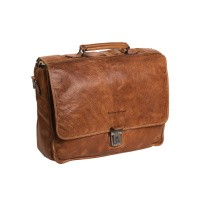Leather Briefcase Cognac Aberdeen Cognac