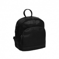 Leather Backpack Black Dortmund Black