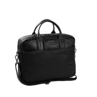 Leather Laptop Bag T7 Black Thomas Hayo Black