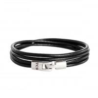 Leather Bracelet Black Trusci Black