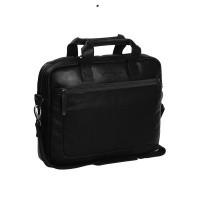 Leather Laptop Bag Black Calvi Black