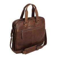 Leather Laptop Bag Brown Jovi Brown