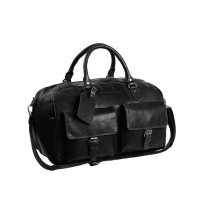 Leather Weekend Bag Black Wesley Black