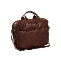 Leather Laptop Bag Brown Amsterdam Brown