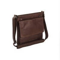 Leather Shoulder Bag Brown Brussels Brown