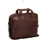 Leather Laptop Bag Brown Calvi Brown