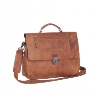 Leather Briefcase Cognac Matthew Cognac