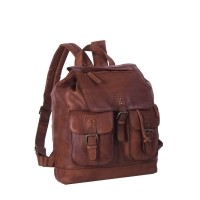 Leather Backpack Black Label Cognac Laney Cognac