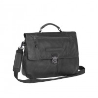 Leather Briefcase Black Matthew Black