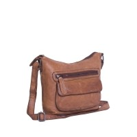Leather Shoulder Bag Cognac Aliz Cognac