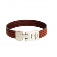Leather Bracelet Cognac Katniss Cognac