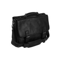 Leather Laptop Bag Black Belfast Black