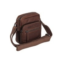 Leather Shoulder Bag Brown Bremen Brown