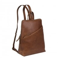 Leather Backpack Cognac Amanda Cognac