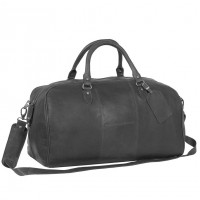 Leder Weekender Schwarz William Schwarz