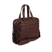 Leather Laptop Bag Brown Blackburn Brown
