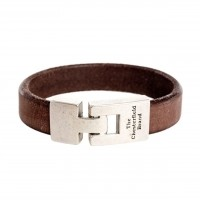 Leather Bracelet Brown Marco Brown