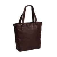 Leather Tote Bag Brown Jade Brown