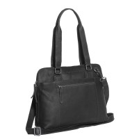 Leather Shoulder Bag Black Cara Black
