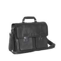 Leather Shoulder Bag Black Mario Black