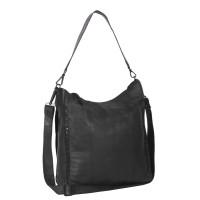 Leather Shoulder Bag Black Label Anthracite Larin Anthracite