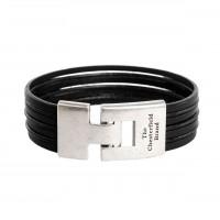 Leather Bracelet Black Elvis Black