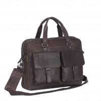 Leather Laptop Bag Brown Dylan Brown